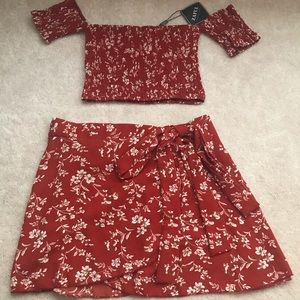 Red two piece set